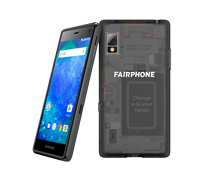 Fairphone 2 Svart Transparent